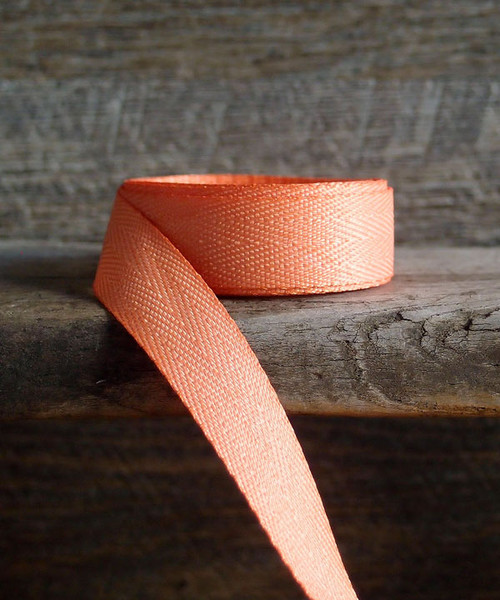 Peach Herringbone Twill Ribbon (3 sizes)