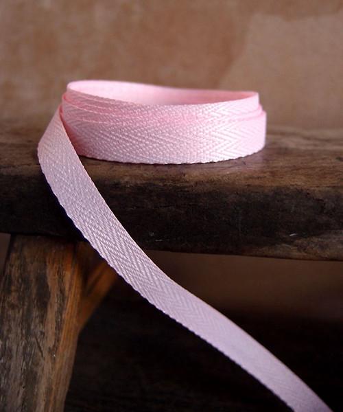 Pink Herringbone Twill Ribbon (3 sizes)
