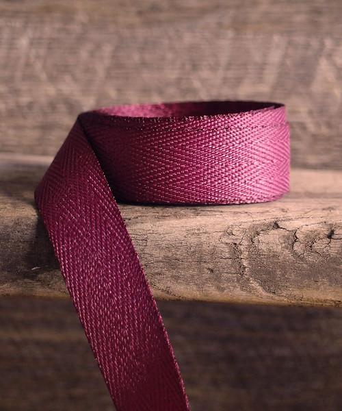 Burgundy Herringbone Twill Ribbon (3 sizes)