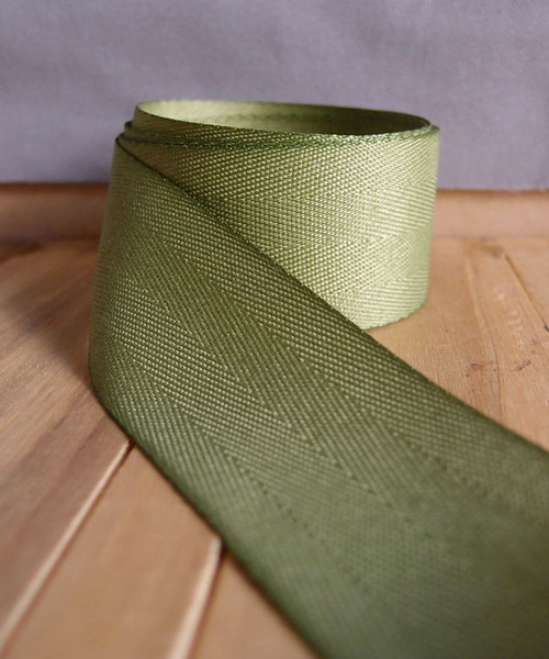 Moss Herringbone Twill Ribbon (3 sizes)