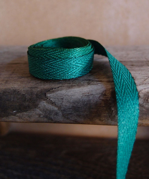 Hunter Green Herringbone Twill Ribbon (3 sizes)