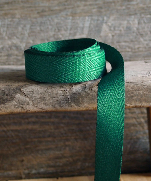 Hunter Green Herringbone Twill Ribbon (3 sizes)