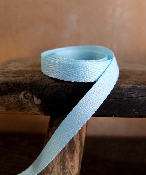 Light Blue Herringbone Twill Ribbon (3 sizes)