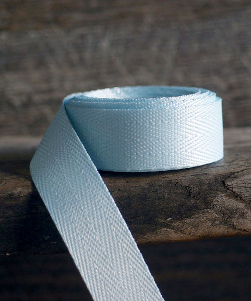 Light Blue Herringbone Twill Ribbon (3 sizes)