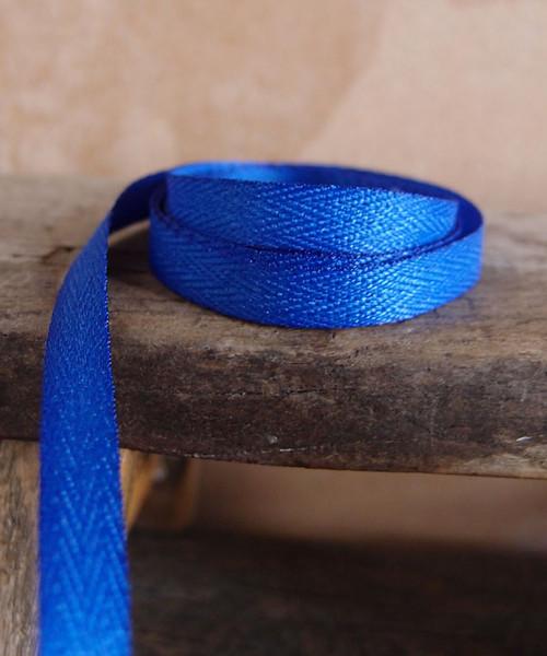 Royal Blue Herringbone Twill Ribbon (3 sizes)