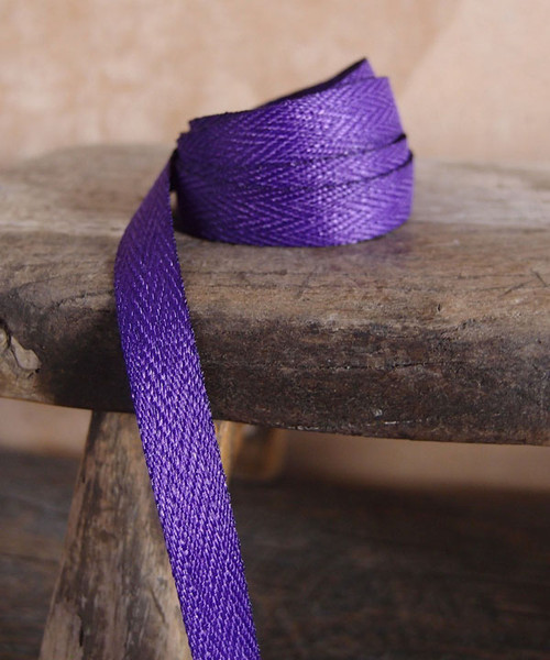 Purple Herringbone Twill Ribbon (3 sizes)