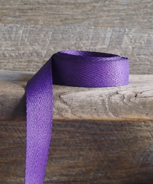 Purple Herringbone Twill Ribbon (3 sizes)