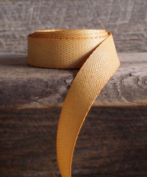 Gold Herringbone Twill Ribbon (3 sizes)