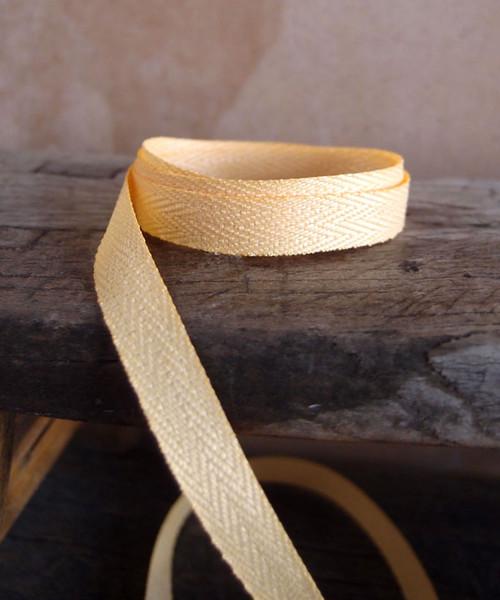 Light Gold Herringbone Twill Ribbon (3 sizes)
