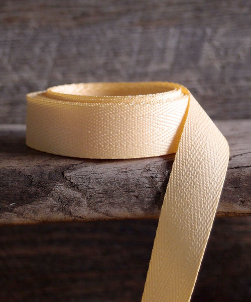 Light Gold Herringbone Twill Ribbon (3 sizes)
