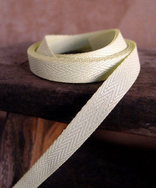 Lime Herringbone Twill Ribbon (3 sizes)