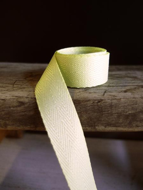 Lime Herringbone Twill Ribbon (3 sizes)