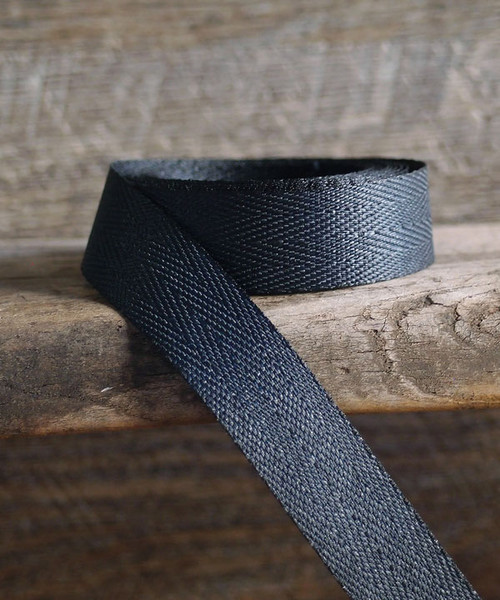 Black Herringbone Twill Ribbon (3 sizes)