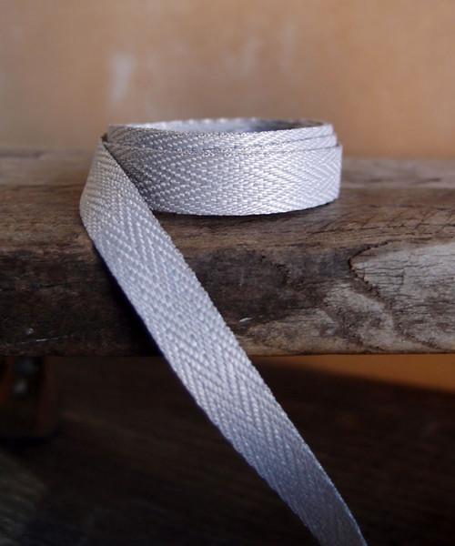 Silver Herringbone Twill Ribbon (3 sizes)