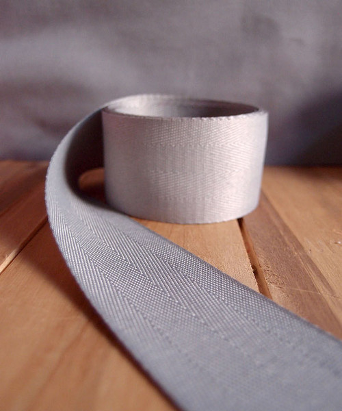 Silver Herringbone Twill Ribbon (3 sizes)