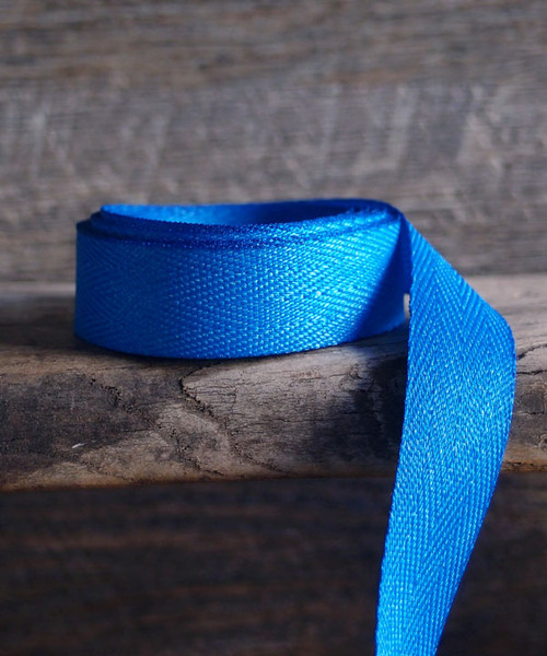 Turquoise Herringbone Twill Ribbon (3 sizes)