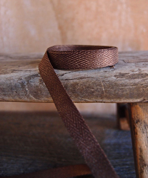 Chocolate Herringbone Twill Ribbon (3 sizes)