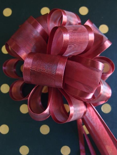 Wholesale Pull Bows, Gift Bows, Pull Bow Ribbon, Burgundy Pull Bows | Packaging Decor