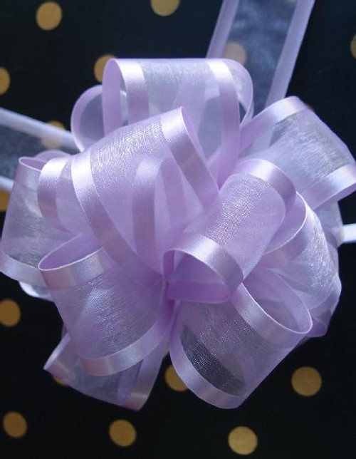 Lavender Sheer with Satin Edge Pull Bow, Wholesale Pull Bows