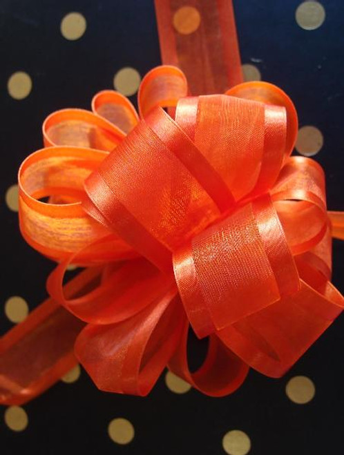 Wholesale Pull Bows, Gift Bows, Pull Bow Ribbon, Orange Pull Bows | Packaging Decor