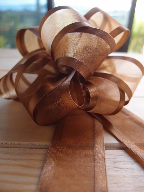 Wholesale Pull Bows, Gift Bows, Pull Bow Ribbon, Chocolate Pull Bows, Brown Gift Wrap Bows | Packaging Decor
