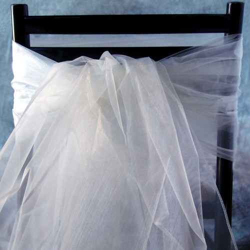 "White Organza Sheet 54"" x 108"""