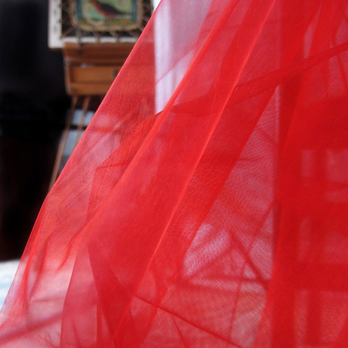 "Red Organza Sheet 54"" x 108"""