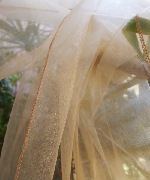 "Gold Organza Sheet 54"" x 108"""
