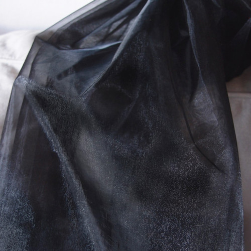 "Black Organza Sheet 54"" x 108"""