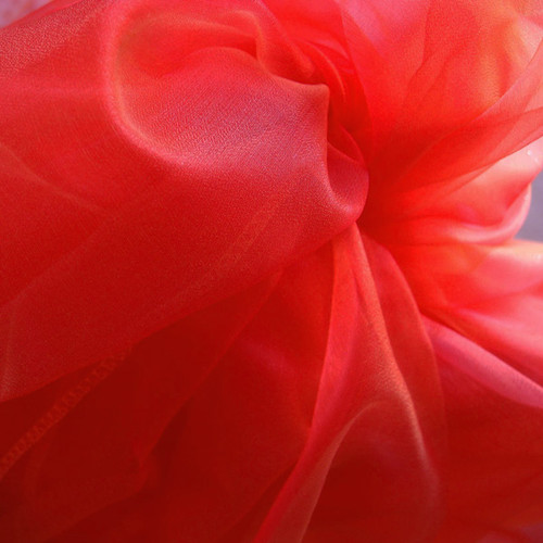 "Red Two-tone Organza Sheet 54"" x 108"""