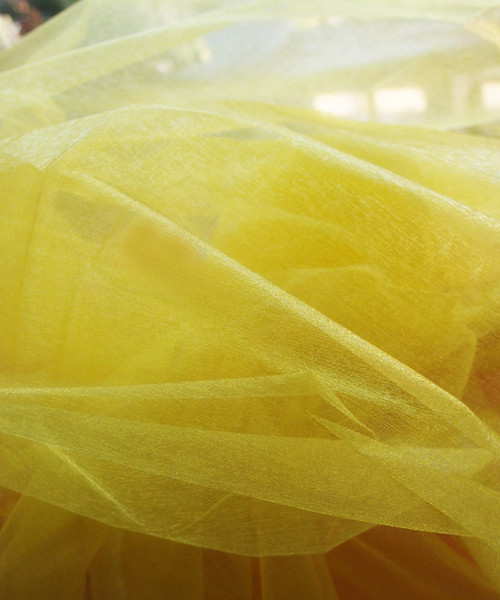 "Yellow Two-tone Organza Sheet 54"" x 108"""