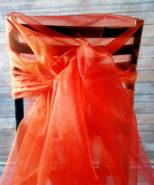 "Autumn Orange Two-tone Organza Sheet 54"" x 108"""