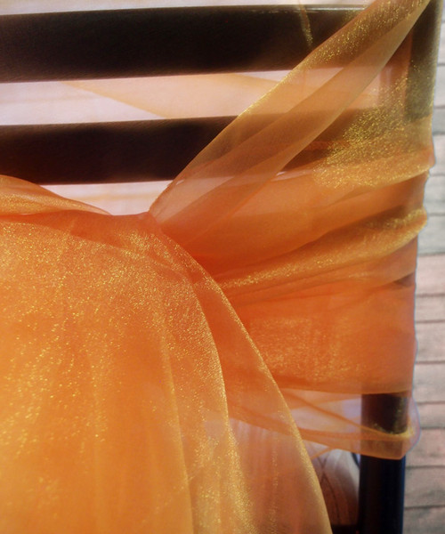 "Tangerine Two-tone Organza Sheet 54"" x 108"""