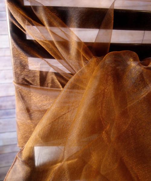 "Copper Two-tone Organza Sheet 54"" x 108"""