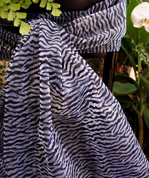 """Zebra Print Sheet 28"""" x 216"""""""