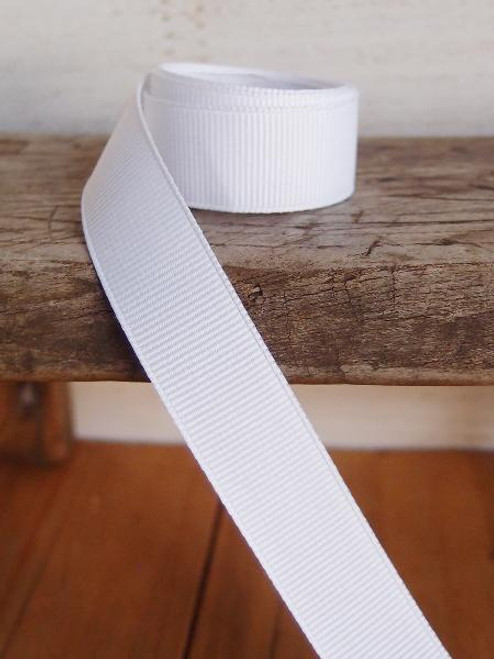 White Grosgrain Ribbon (4 sizes)
