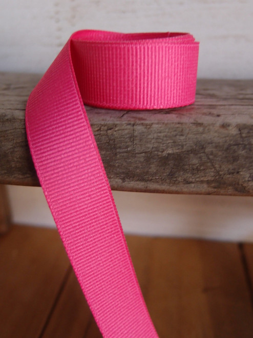 Shocking Pink Grosgrain Ribbon (4 sizes)