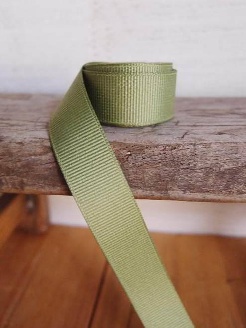 Moss Grosgrain Ribbon (4 sizes)