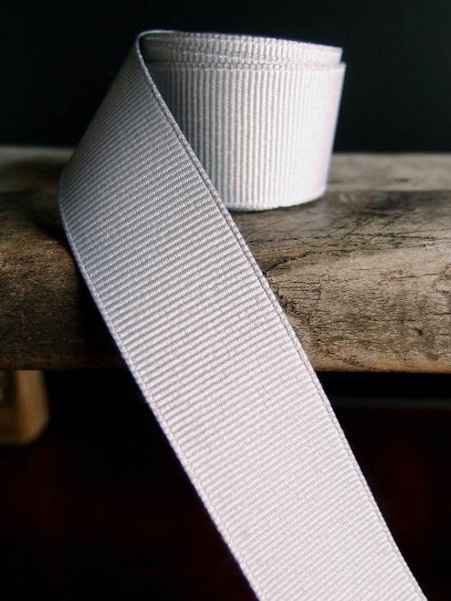 Silver Grosgrain Ribbon (4 sizes)