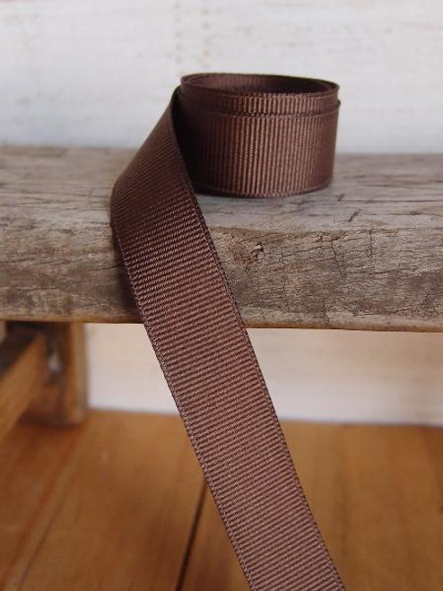 Dark Brown Grosgrain Ribbon (4 sizes)