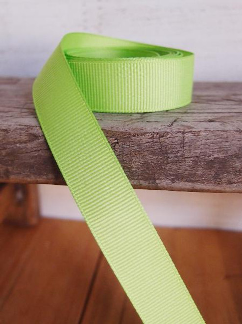 Bright Green Grosgrain Ribbon (4 sizes)