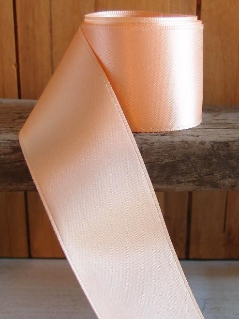 Peach Double Face Satin Ribbon( 8 sizes)
