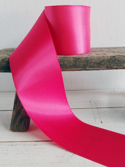Hot Pink Double Face Satin Ribbon (7 sizes)