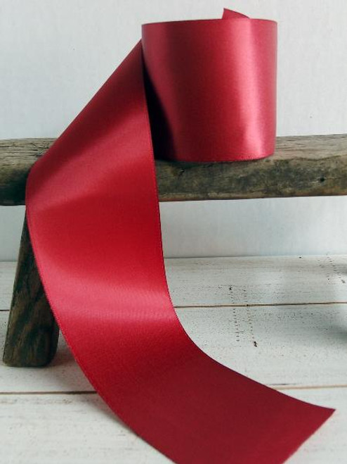 Burgundy Double Face Satin Ribbon (8 sizes)