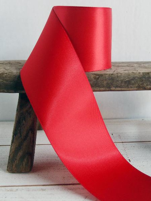 Red Double Face Satin Ribbon (11 sizes)