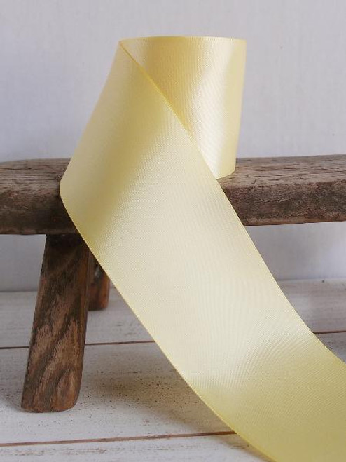 Yellow Double Face Satin Ribbon (8 sizes)