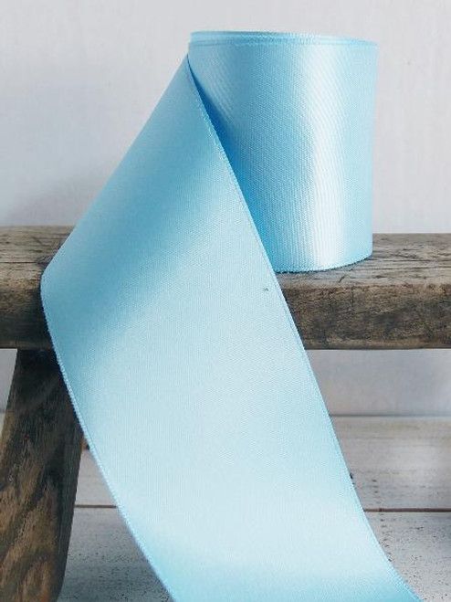 Light Blue Double Face Satin Ribbon (8 sizes)