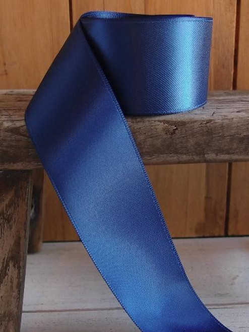 Navy Blue Double Face Satin Ribbon (8 sizes)