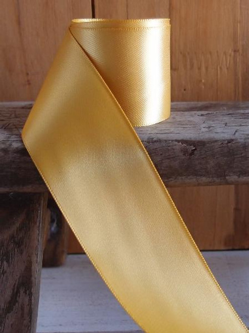 Gold Double Face Satin Ribbon (7 sizes)