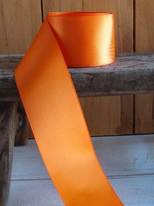 Orange Double Face Satin Ribbon (8 sizes)